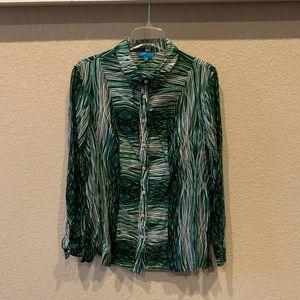 Women's long sleeve button down blouse. Size XL.